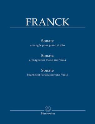 Sonate - Alto et piano FRANCK Partition Alto - laflutedepan