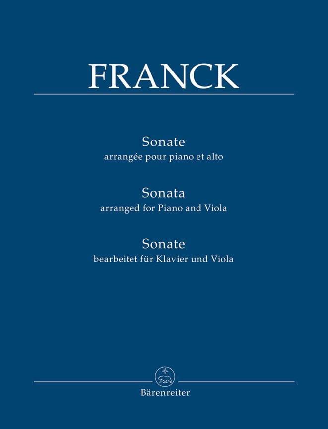 Sonate - Alto et piano - FRANCK - Partition - Alto - laflutedepan.com
