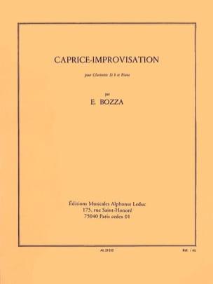 Caprice-Improvisation Eugène Bozza Partition Clarinette - laflutedepan