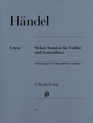 7 Sonates pour violon et basse continue HAENDEL Partition laflutedepan