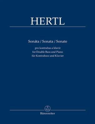 Sonate - Contrebasse et piano Frantisek Hertl Partition laflutedepan