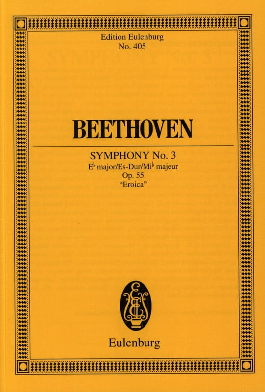 Symphonie Nr. 3 Es-Dur - Conducteur - BEETHOVEN - laflutedepan.com