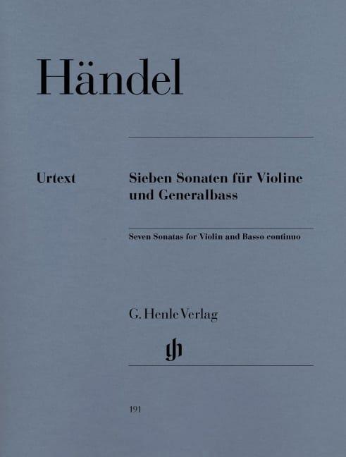 7 Sonates pour violon et basse continue - HAENDEL - laflutedepan.com