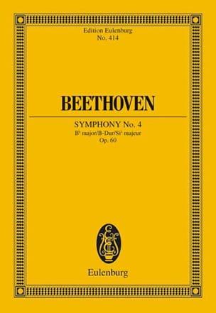 Symphonie Nr. 4 B-Dur BEETHOVEN Partition Petit format - laflutedepan