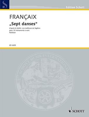 Sept danses - 10 vents - Score FRANÇAIX Partition laflutedepan