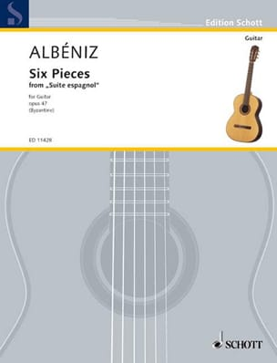 6 Pieces ALBENIZ Partition Guitare - laflutedepan