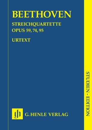Quatuors à cordes op. 59, 74, 95 BEETHOVEN Partition laflutedepan