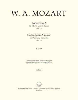 Klavierkonzert Nr. 12 A-Dur KV 414 - Matériel Complet laflutedepan