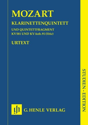 Klarinettenquintett KV 581 u. KV Anh. 91 -Partitur laflutedepan