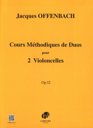 Jacques Offenbach - Methodical course of duets for 2 cellos op. 52 - Partition - di-arezzo.com