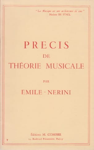 Précis de théorie musicale - Emile Nerini - laflutedepan.com