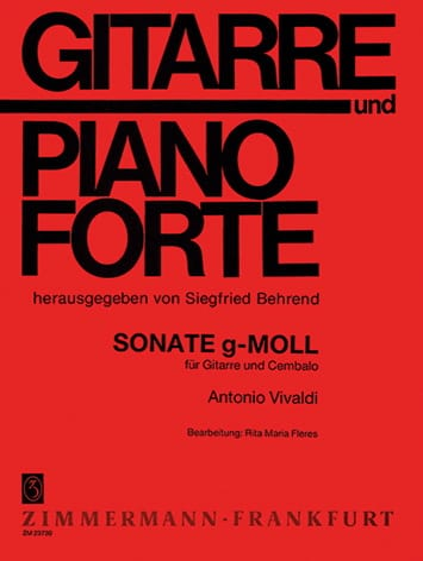 Sonate en Sol Min. - VIVALDI - Partition - Guitare - laflutedepan.com