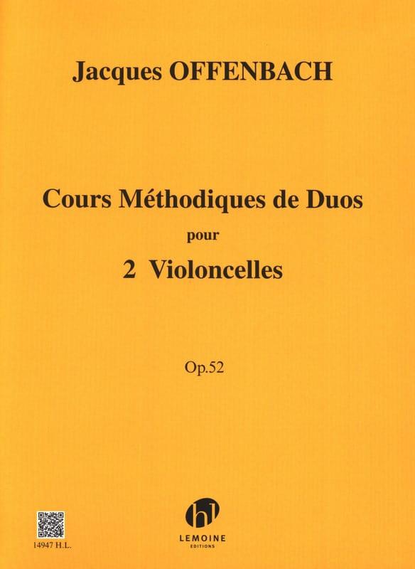 Cours méthodique de duos pour 2 violoncelles op. 52 - laflutedepan.com
