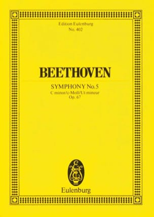 Symphonie Nr. 5 c-Moll BEETHOVEN Partition Petit format - laflutedepan
