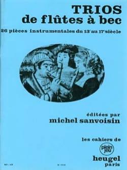 Trios de flûtes à bec compositeurs Divers Partition laflutedepan