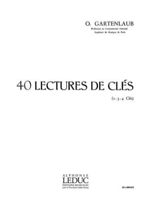 40 Lectures de clés Odette Gartenlaub Partition laflutedepan