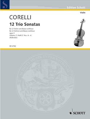 12 Triosonaten op. 3 - Bd. 2 : Nr. 4-6 -2 Violinen u. Bc laflutedepan