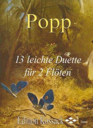 13 Leichte Duette Wilhelm Popp Partition laflutedepan