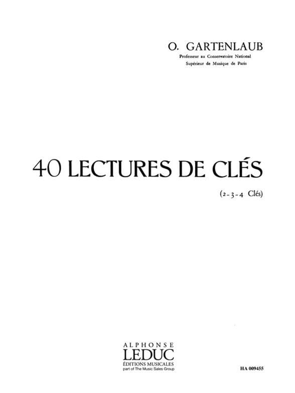 40 Lectures de clés - Odette Gartenlaub - Partition - laflutedepan.com