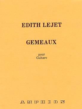 Gemeaux - Guitare - Edith Lejet - Partition - laflutedepan.com