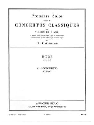 Rode Pierre / Catherine Georges - 1er Solo del Concierto n ° 1 - Partition - di-arezzo.es