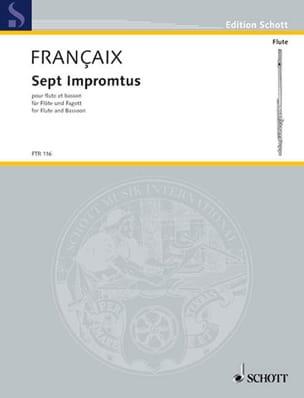 7 Impromptus FRANÇAIX Partition Duos - laflutedepan