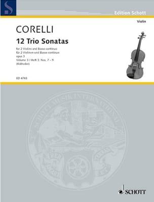 12 Triosonaten op. 3 - Bd. 3 : Nr. 7-9 -2 Violinen u. Bc laflutedepan