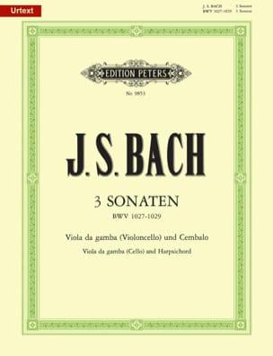 3 Sonates BWV 1027-1029 BACH Partition Violoncelle - laflutedepan