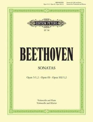 Sonaten BEETHOVEN Partition Violoncelle - laflutedepan