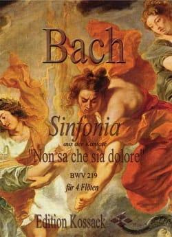Sinfonia BWV 219 - BACH - Partition - laflutedepan.com