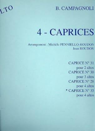 Caprice n° 35 - 4 altos Bartolomeo Campagnoli Partition laflutedepan