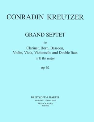Grand Septet Op. 62 Conradin Kreutzer Partition laflutedepan