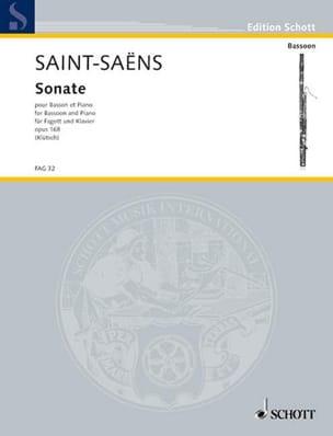 Sonate, Opus 168 SAINT-SAËNS Partition Basson - laflutedepan