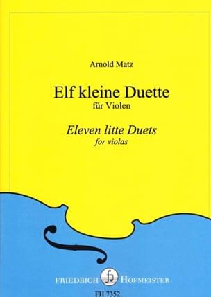 11 Little Duets Arnold Matz Partition Alto - laflutedepan