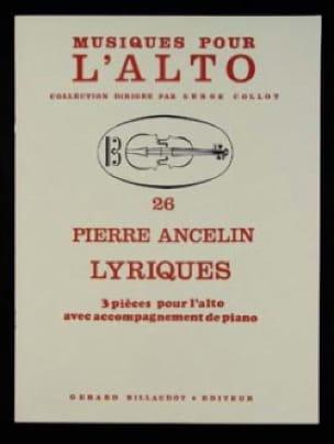 Lyriques - Pierre Ancelin - Partition - Alto - laflutedepan.com