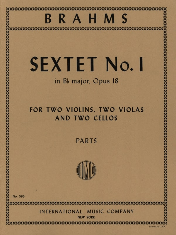 Sextet n° 1 in Bb major op. 18 -Parts - BRAHMS - laflutedepan.com