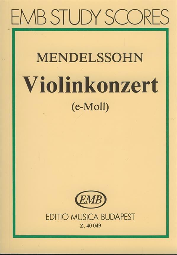 Violonkonzert op. 64 - Partitur - MENDELSSOHN - laflutedepan.com