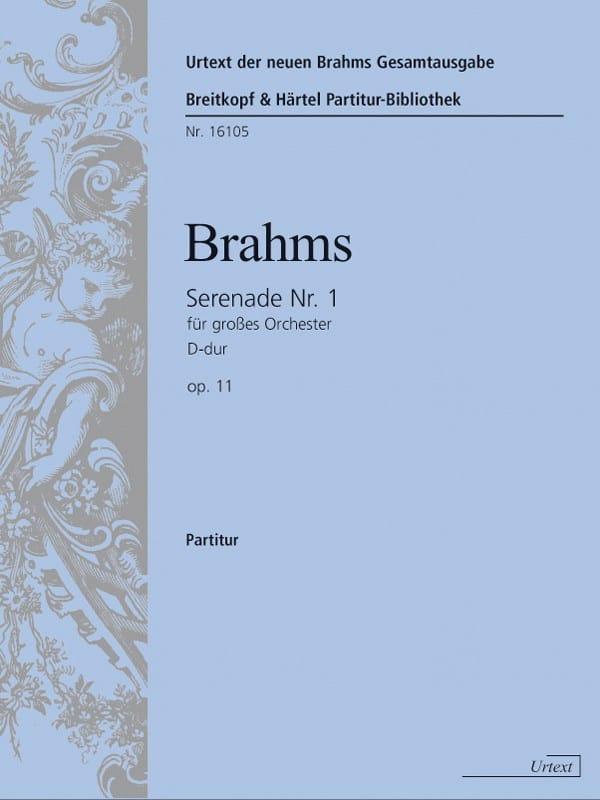 Sérénade n° 1, opus 11 - Conducteur - BRAHMS - laflutedepan.com