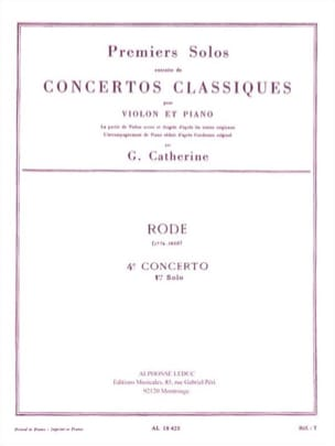 1er Solo du Concerto n° 4 Rode Pierre / Catherine Georges laflutedepan