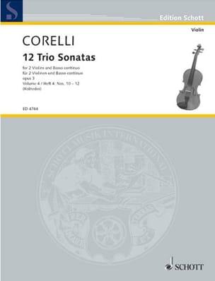 12 Triosonaten op. 3 - Bd. 4 : Nr. 10-12 -2 Violinen u. Bc laflutedepan