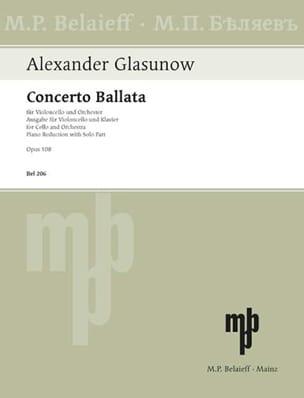 Alexandre Glazounov - Concerto Ballata op. 108 - Partition - di-arezzo.co.uk