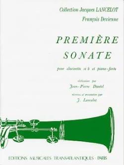 1ère Sonate - Clarinette et Piano DEVIENNE Partition laflutedepan