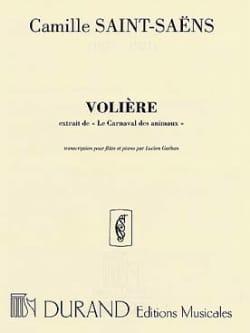 La volière - Flûte piano SAINT-SAËNS Partition laflutedepan
