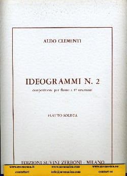 Ideogrammi n° 2 - Partitura Aldo Clementi Partition laflutedepan