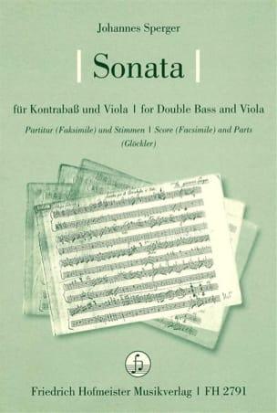 Sonate pour contrebasse et alto - Johannes Sperger - laflutedepan.com
