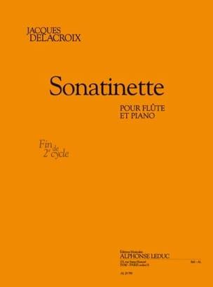 Sonatinette Jacques Delacroix Partition laflutedepan