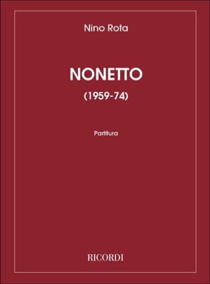 Nonetto - ROTA - Partition - Grand format - laflutedepan.com