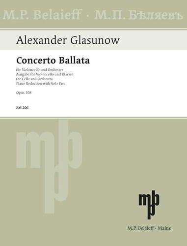 Concerto Ballata op. 108 - Alexandre Glazounov - laflutedepan.com
