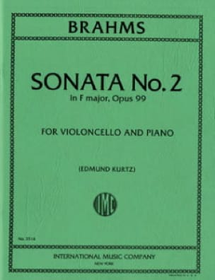 Sonata n°2 in F major op. 99 - BRAHMS - Partition - laflutedepan.com