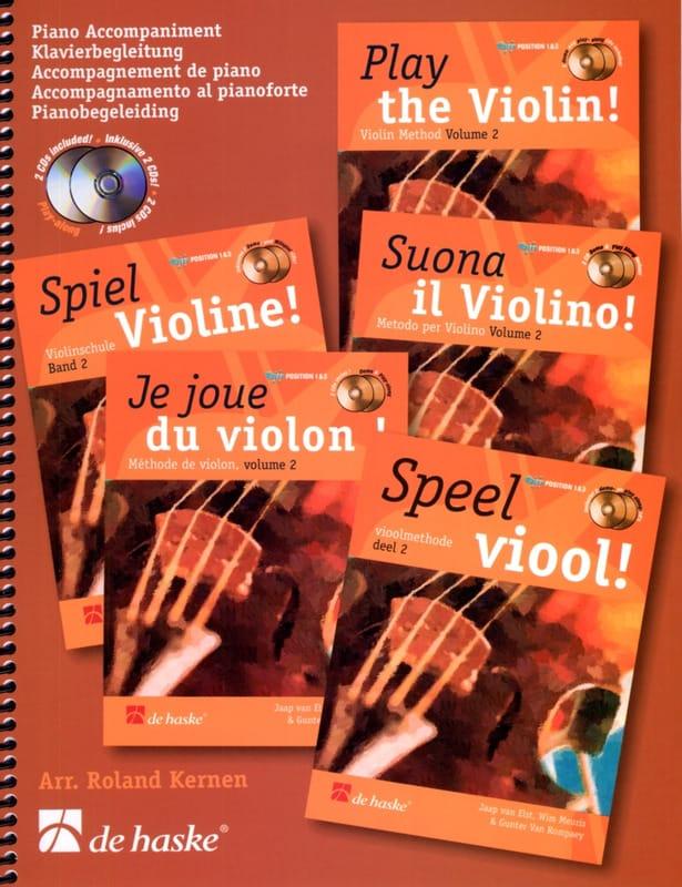 Je Joue du Violon Vol. 2 - Accompagnement Piano - laflutedepan.com